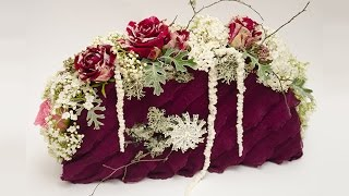 Флористика своими руками урок Сумка из живыз цветов  Video tutorial floristry Bag of fresh flowers