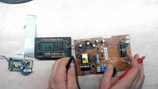 Ремонт ЖК монитора LG 1942S. Не включается.