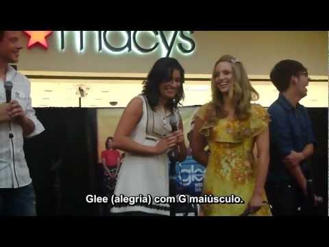 The Glee Mall Tour: Elenco conta como descobriram que foram escolhidos para Glee (legendado)