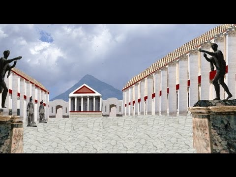 Pompeii - reconstruction of Ancient Roman city using Paint.net