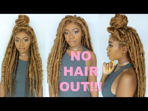 DIY CROCHET WIG | Bohemian Bombshell Faux Locs w/ Frontal | Gypsy Goddess Protective Style