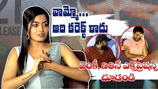 Rashmika Mandanna Not Agreed With Nithiin and Venky Kudumula || Bheeshma Team Interview || Ig Telugu - IGTELUGU