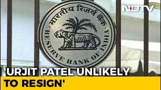 Centre-RBI Solution Before Meet, Urjit Patel Unlikely To Quit: Sources - NDTV