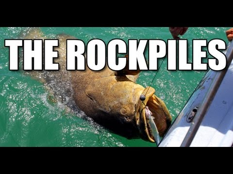 Addictive Fishin: The Rockpiles - GOLIATH GROUPER in shallow water