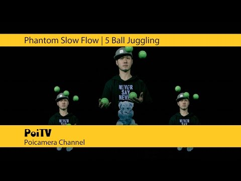 Super Slow Juggling : 5 Ball #1
