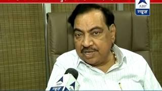 Eknath Khadse includes himself in Maharashtra CM race - ABPNEWSTV