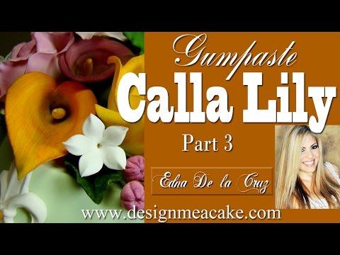 Калла. Цветы из мастики. Часть 2