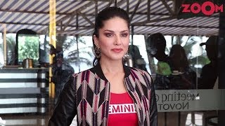Sunny Leone Spotted At A Hotel In Juhu In Mumbai | Bollywood News - ZOOMDEKHO
