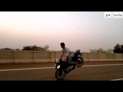 Longest Rolling Stoppie from r15 By Sanchay Dwivedi (R15) {Jhansi}..