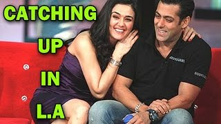 Salman Khan catches up with Preity Zinta in Los Angeles