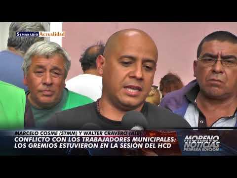 Conflicto con los trabajadores municipales: Los gremios estuvieron en la sesión del HCD