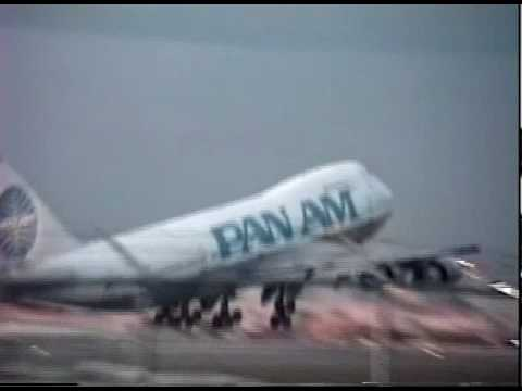 PAN AM 747, LAST FLIGHT OF PAN AM  TAKING OFF FROM MIAMI SUMMER 1991