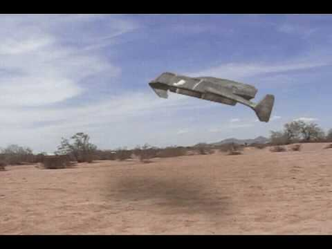 Anti-gravity vehicle test footage.