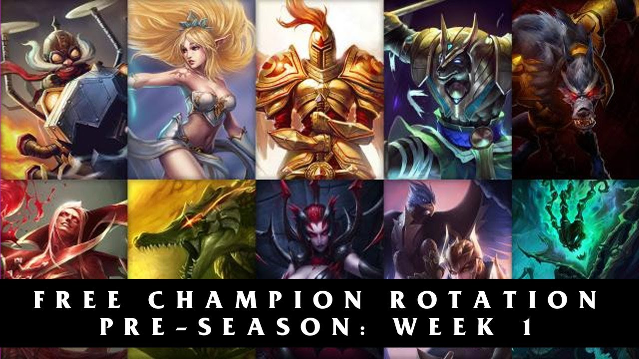 Free League of Legends Champion Rotation | Season 4 Pre-season Week 1