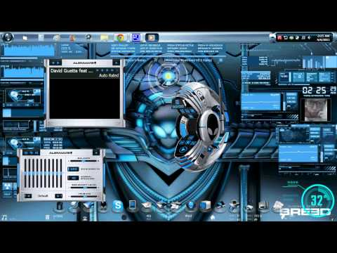 AlienGUIse Theme: Breed w/ Rainmeter BlueVision v0.2 Alpha