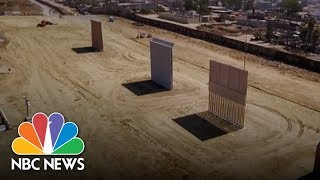See How President Donald Trump's Border Wall Prototypes Are Taking Shape | NBC News - NBCNEWS