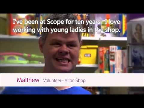 Meet Matthew - one of many disabled who help run Charity Shops...