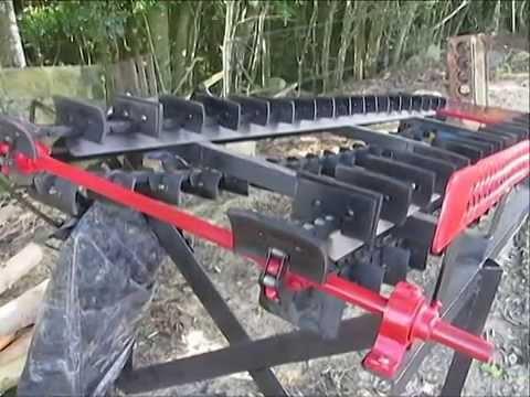 Exemplo de máquinas e invenções da agricultura familiar - mecânico Egon Blank