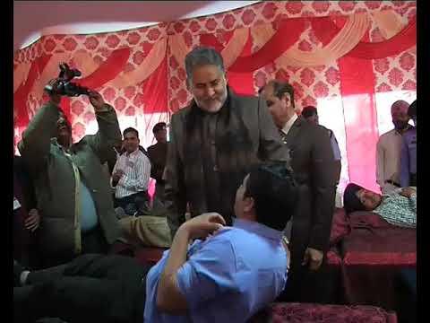 <p>रक्तदाता समाज में प्ररेणास्रोत हैं- राम बिलास शर्मा&nbsp;</p>