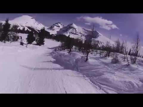 Snowboarding in Sunshine Villege (Canda) March 2013