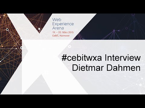 #cebitwxa Interview: Dietmar Dahmen