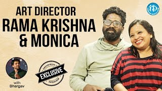 Art director Rama Krishna & Monica Exclusive Interview || Talking Movies With iDream - IDREAMMOVIES