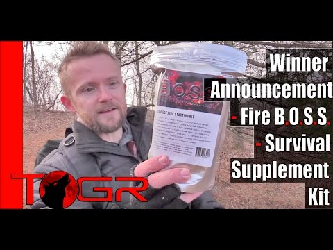 Winner Announcement - Fire B.O.S.S. - Survival Supplement Kit