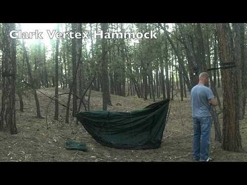 Clark Vertex Double Camping Hammock First Setup - Cube Dweller Fitness Adventures