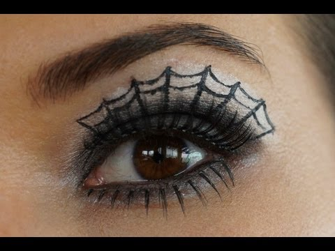 How to do Spider Web Eye Make-up- Tutorial