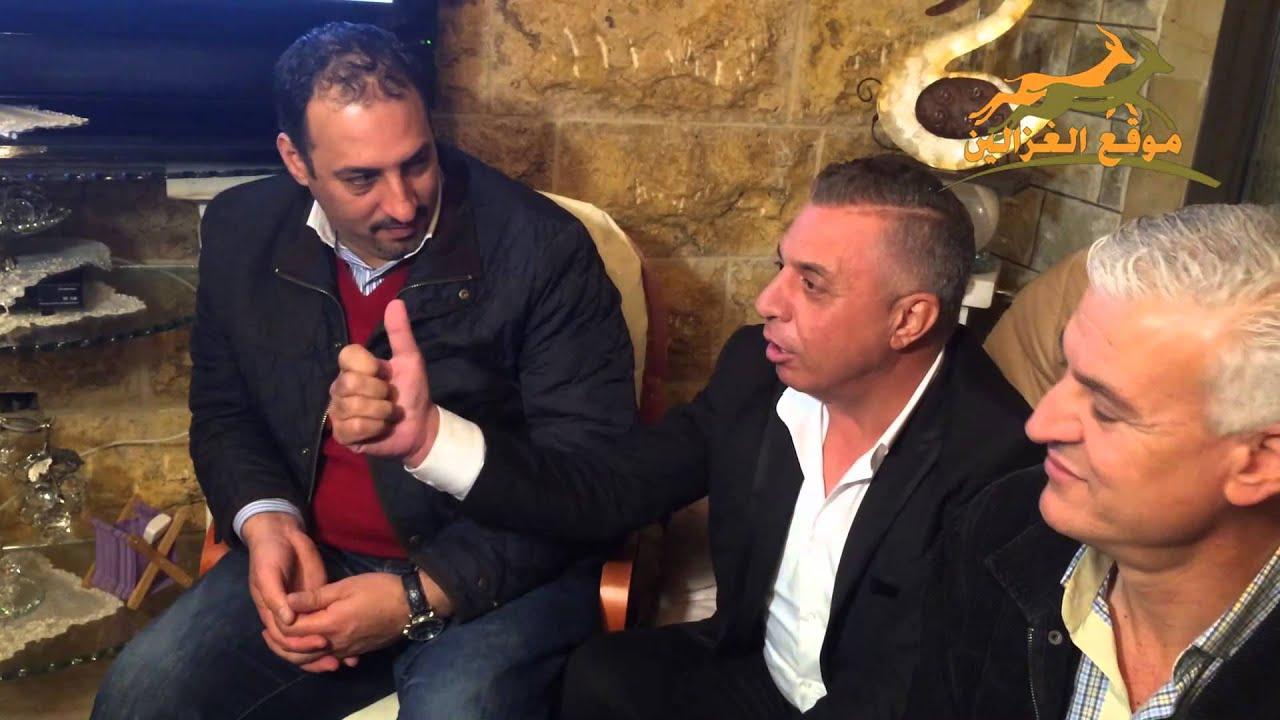 محمد عساف يستقبله عصام عمر بالعتابا في الناصره 2015