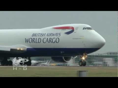 New Boeing 747-8 British Airways World Cargo 7478F G-GSSF First revenue Departure London Stansted