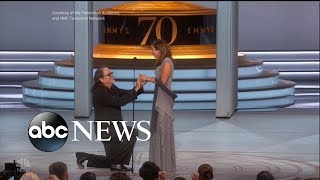 The award-winning proposal at the Emmys - ABCNEWS