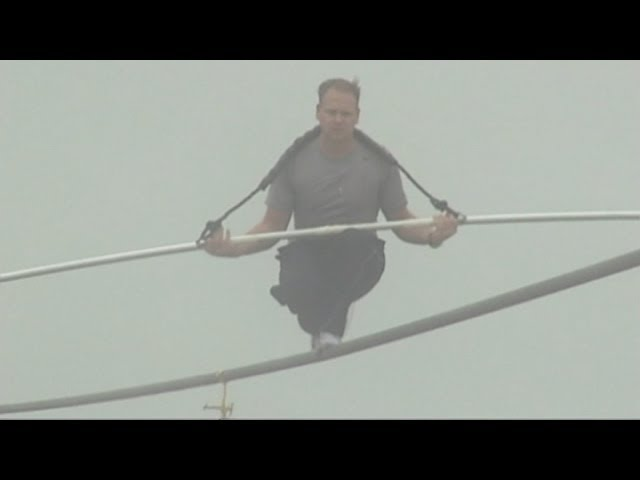 Daredevil Nik Wallenda prepares for Grand Canyon tightrope walk