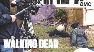 (SPOILERS) 'Pregnant Michonne's Fight Scene' Making of Ep. 914 BTS | The Walking Dead - AMC