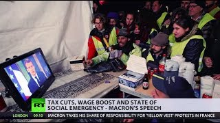 'Nice speech, but I don't trust him': Yellow Vests react to Macron's address - RUSSIATODAY