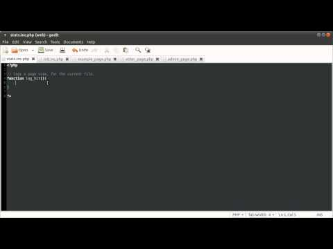 PHP Tutorial: Page View Counter [part 01]