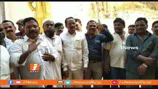 TDP Activists Protest Against TDP MLA Vasupalli Ganesh In VIsakha | iNews - INEWS