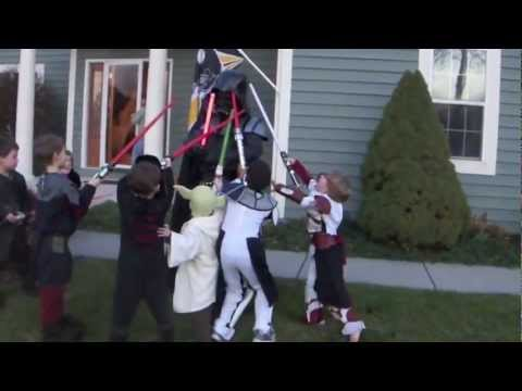 Darth Vader storms a birthday party