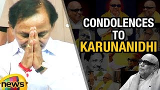 CM KCR And MP Kavitha Paid Condolences To DMK Chief Karunanidhi | Mango News - MANGONEWS