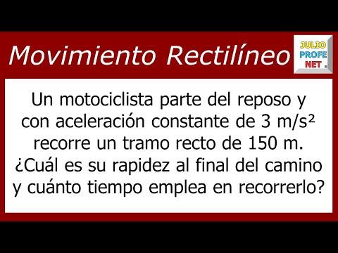 Movimiento Rectilíneo Uniformemente Acelerado (Problema 2)