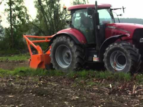 CMI TRINCIA FORESTALE con trattore CASE 210