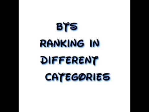 Bts ranking in different categories official list