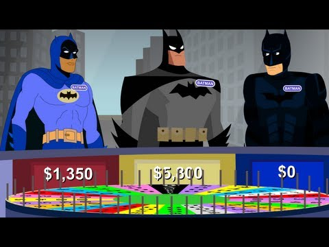 Wheel of Fortune Re-enacted by Batman