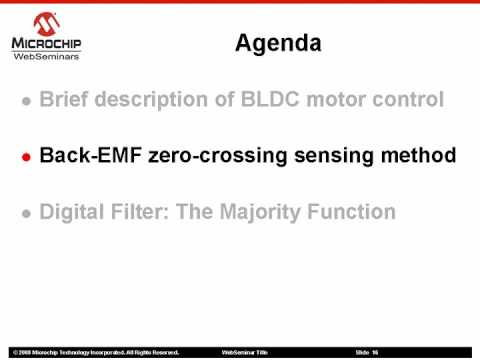 Sensorless BLDC motor control using a Majority Function Part 1 of 2