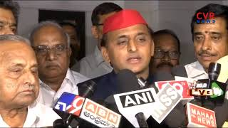 Mulayam Singh Yadav and  Akhilesh Yadav Speaks with Media after Meet With AP CM Chandrababu Naidu - CVRNEWSOFFICIAL