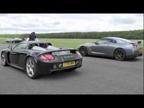 Porsche Carrera GT vs Nissan R35 GTR