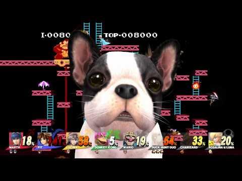 8 Player Super Smash Bros. Wii U Gameplay DK Stage (HD) 1080p