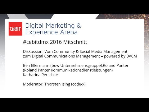 #cebitdmx: Vom Community & Social Media Management zum Digital Communications Management