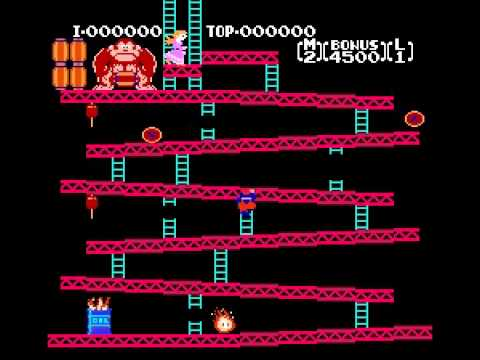 Donkey Kong - Donkey Kong (NES) Game A Level 1 - Vizzed.com Play - User video