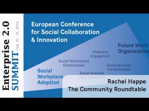 #e20s 2014 | Rachel Happe, The Community Roundtable | Driving the Engagement & Adoption